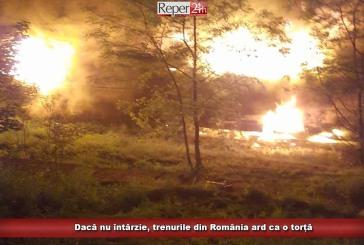 Dacă nu întârzie, trenurile din România ard ca o torță