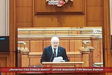 """""""Guvernul Cîțu trebuie demis"""" – afirmă deputatul PSD Marius Damian"""