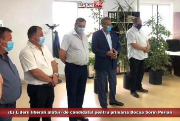 (E) Liderii liberali, alături de candidatul pentru Primăria Bocșa, Sorin Perian