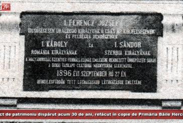 Obiect de patrimoniu dispărut acum 30 de ani, refăcut în copie de Primăria Băile Herculane