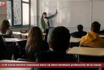 CJE Caraș-Severin îndeamnă elevii să ofere feedback profesorilor de la clasă!
