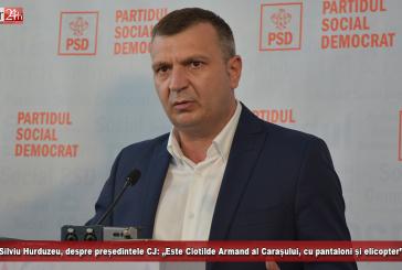"""Silviu Hurduzeu, despre președintele CJ: """"Este Clotilde Armand al Carașului, cu pantaloni și elicopter""""!"""