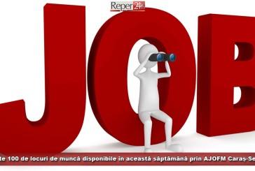 Peste 100 de locuri de muncă disponibile în această săptămână prin AJOFM Caraș-Severin