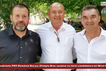 Președintele PRO România Bocșa, Olimpiu Brie, susține cu tărie candidatura lui Mirel Patriciu Pascu!