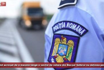 Polițist acroșat de o mașină lângă o secție de votare din Bocșa! Șoferul nu deținea permis!