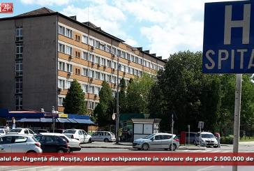 Spitalul de Urgență din Reșița, dotat cu echipamente în valoare de peste 2.500.000 de euro