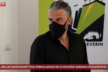 """""""Da, am demisionat!"""" Tinu Vidaicu pleacă de la Consiliul Județean Caraș-Severin"""
