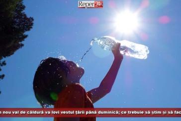 Un nou val de căldură va lovi vestul țării până duminică; ce trebuie să știm și să facem