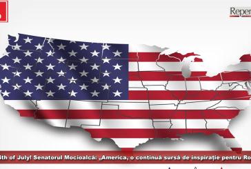 """Happy 4th of July! Senatorul Mocioalcă: """"America, o continuă sursă de inspirație pentru România!"""""""