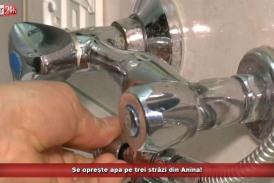 Se oprește apa pe trei străzi din Anina!