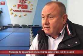 Moțiunea de cenzură, în interpretarea senatorului Ion Mocioalcă