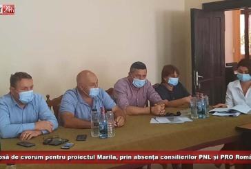 Lipsă de cvorum pentru proiectul Marila, prin absența consilierilor PNL și PRO România!