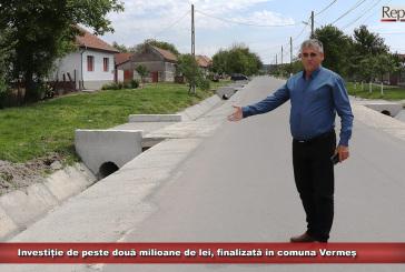 Investiție de peste două milioane de lei, finalizată în comuna Vermeș